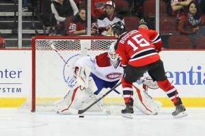 Reid Boucher of the New Jersey Devils