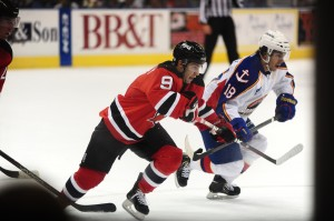 Joe Whitney (9) will face brother Steven (18) Saturday when the Albany Devils host the Norfolk Admirals Photo Credit: (Norfolk Admirals/John Wright)