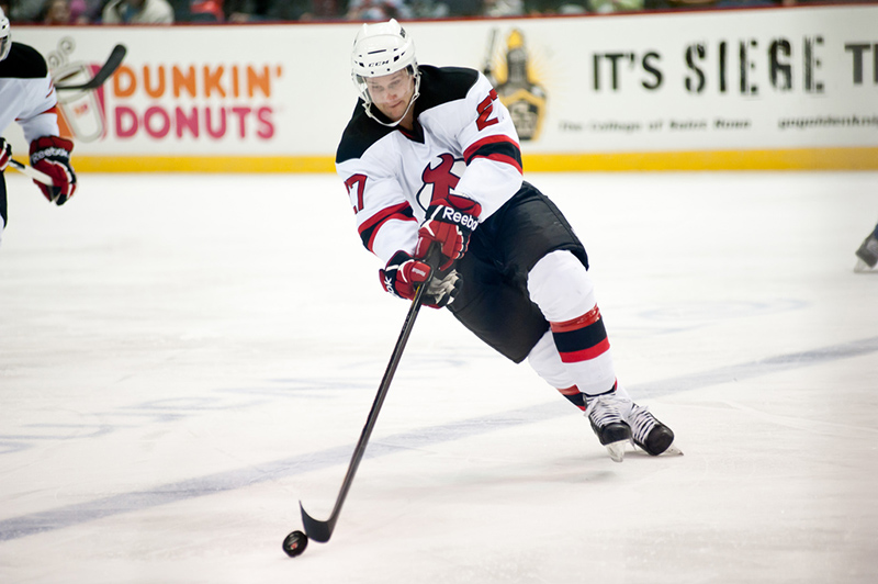 Mike Sislo of the Albany Devils