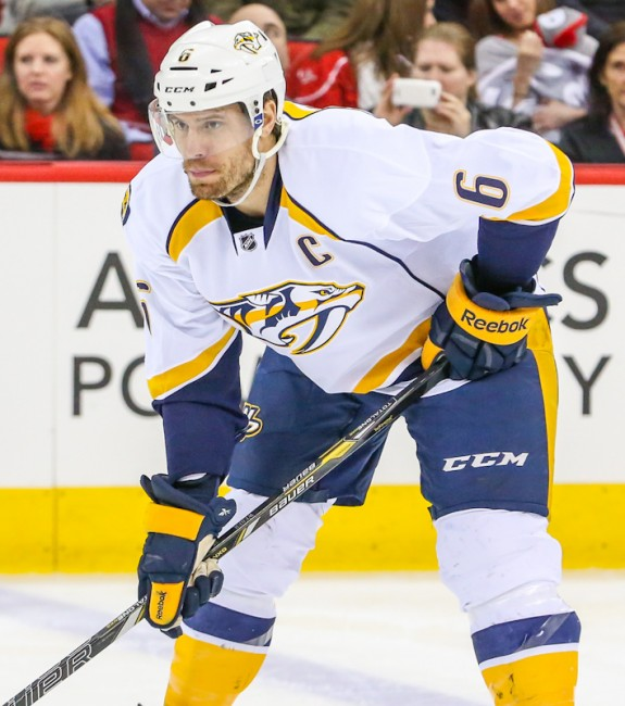 (Andy Martin Jr.) Shea Weber is a beast, but he could be an expendable beast for Mark in this predicament with Patrick Kane's status very uncertain heading into the season. If Kane is suspended, Mark might need to trade Weber — or another defenceman — to acquire a top forward and better balance his lineup.