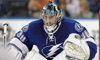 Ben Bishop Carrying Bolts' Torch