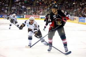 Hershey Bears defenseman David Kolomatis (Annie Erling Gofus/The Hockey Writers)