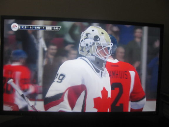 Team Canada 2 goaltender Marc-Andre Fleury