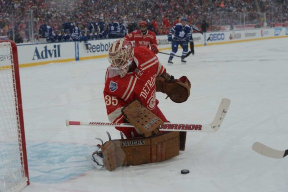 Detroit Red Wings goaltender Jimmy Howard.