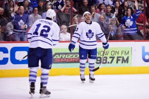 Mason Raymond signed with the Leafs for $1 million last season. (Matt Kartozian-USA TODAY Sports)