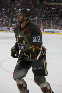 Hershey Bears forward Nicolas Deschamps (Annie Erling Gofus/The Hockey Writers)