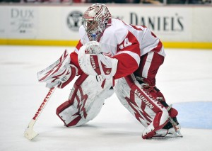 Petr Mrazek is a major factor in Detroit's resigning of Gustavsson. (Gary A. Vasquez-USA TODAY Sports)