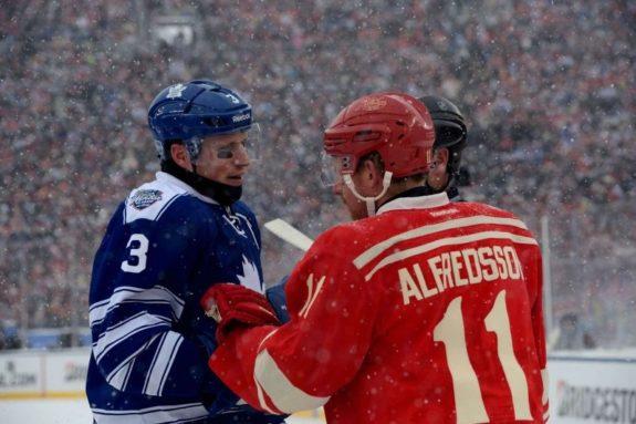 Former Detroit Red Wings forward Daniel Alfredsson.