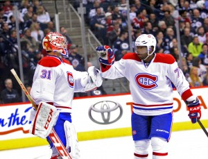 Montreal Canadiens Carey Price and P.K. Subban