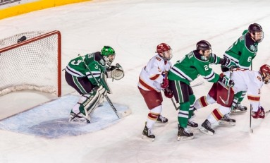 UND Hockey: Clarkes Saunders Fills in for the Injured Zane Gothberg