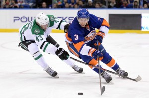 Travis Hamonic is by far the best defenseman on the team, but is he good enough to save the season for the Islanders? (Joe Camporeale-USA TODAY Sports)