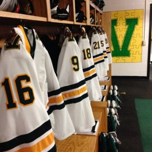 University of Vermont Women's Hockey Locker Room (Ben Kogut)