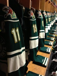University of Vermont Women's Hockey Locker Room (Ben Kogut)