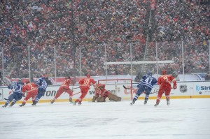 The Winter Classic this year was played at Michigan Stadium between Toronto and Detroit (Tom Turk/The Hockey Writers).