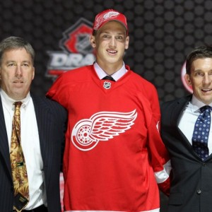 Mantha was drafted 20th overall in 2013 by the Detroit Red Wings (Ed Mulholland-USA TODAY Sports)