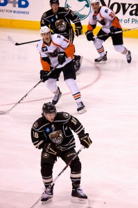 Hershey Bears forward Dustin Gazley (Annie Erling Gofus/The Hockey Writers)