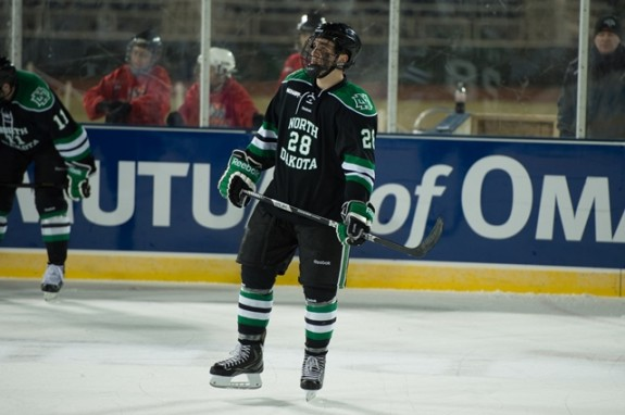 UND forward Stephane Pattyn, (Eric Classen/UND Athletics)