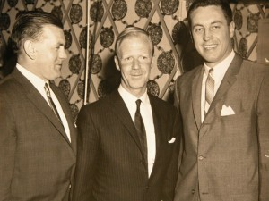 Maurice Richard, David Molson and Jean Beliveau