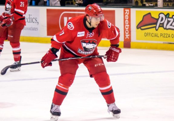 Aaron Palushaj Charlotte Checkers 2007 NHL Draft pick