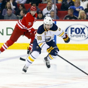 Conacher played in 19 games with the Sabres during the 2014-15 season. (James Guillory-USA TODAY Sports)