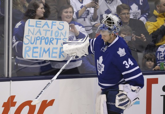 James Reimer Toronto Maple Leafs Brendan Shanahan