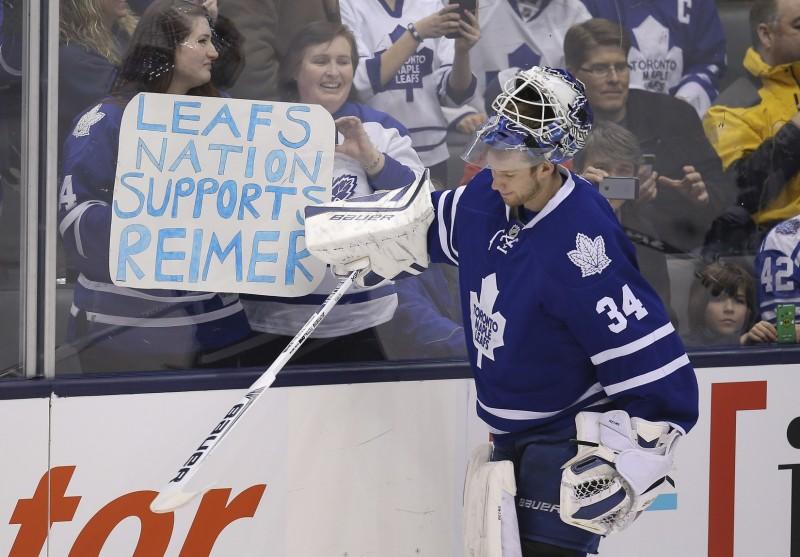 James Reimer, Toronto Maple Leafs, NHL