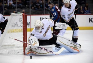 John Gibson was named number star stonewalling the Monarchs (Ron Chenoy-USA TODAY Sports)