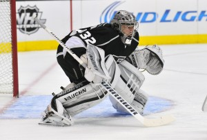 Jonathan Quick has been outstanding to start the new season. (Gary A. Vasquez-USA TODAY Sports)