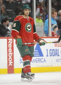 Moulson had just one goal and three points in 10 playoff games with the Wild. (Marilyn Indahl-USA TODAY Sports)