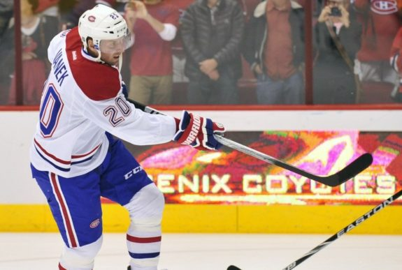 Ex-Montreal Canadiens forward Thomas Vanek