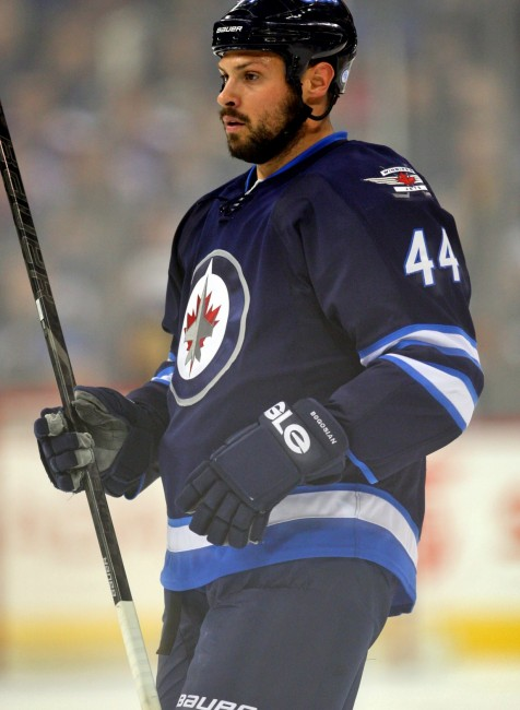 Zach Bogosian's injury issues have forced the Jets to go to the farm for reinforcements. (Bruce Fedyck-USA TODAY Sports)