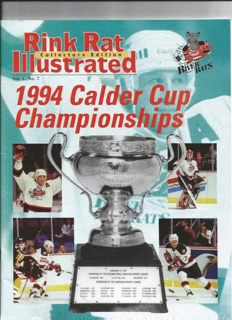 (Albany River Rats 1993-94 Calder Cup playoff program/Rink Rat Illustrated).