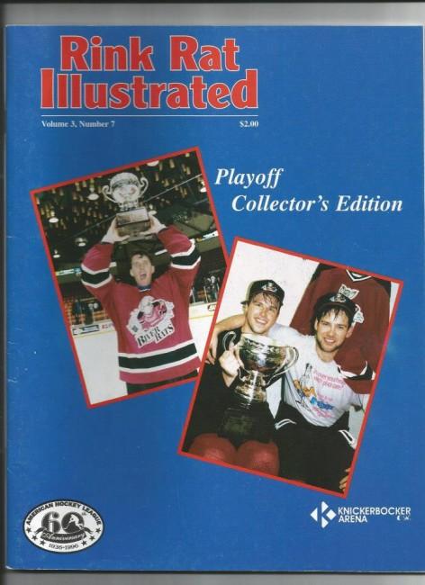 (Albany River Rats celebrate Calder Cup/Rink Rat Illustrated).