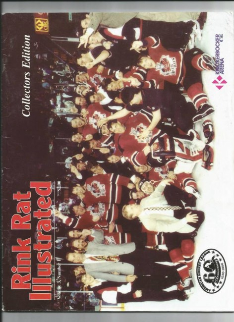 Albany River Rats Calder Cup celebration (Rink Rat Illustrated).