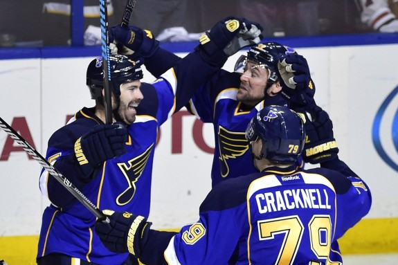 The Blues are a team that can expect scoring from all four lines (Scott Rovak-USA TODAY Sports)