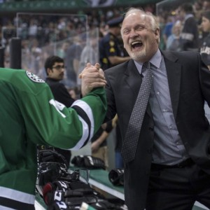 A fast start to the season will keep this look on coach Lindy Ruff's face well into April. (Jerome Miron-USA TODAY Sports)