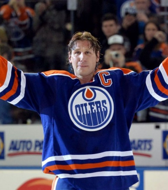 (Chris Austin-USA TODAY Sports) Call me crazy, but I want to see Ryan Smyth inducted into the Hockey Hall of Fame too. He's a legend in Edmonton and did yeoman's work for Canada in international competition too.
