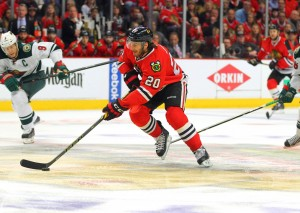 Brandon Saad is expected to get a nice raise this summer. (Dennis Wierzbicki-USA TODAY Sports)