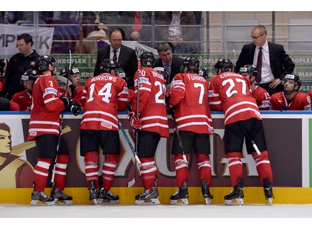 Team Canada instructed by Dave Tippett
