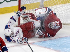 Montreal Canadiens goalie Carey Price and New York Rangers forward Chris Kreider