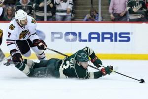 The Minnesota Wild will take on the Chicago Blackhawks next February in Minnesota's first outdoor game. (Brace Hemmelgarn-USA TODAY Sports)