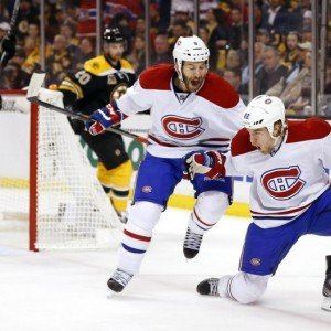 Ex-Montreal Canadiens Brandon Prust and Dale Weise