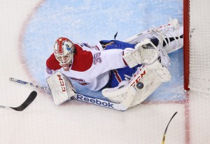 Montreal Canadiens goalie Dustin Tokarski