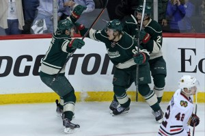 The Minnesota Wild have done lots of celebrating this month, as they've found a way to push back into the playoff race. (Brace Hemmelgarn-USA TODAY Sports)