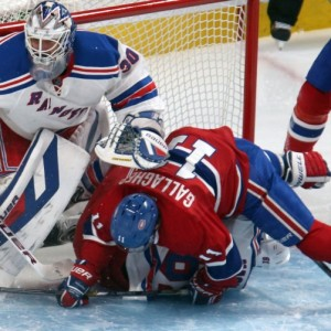 New York Rangers goalie Henrik Lundqvist and Montreal Canadiens forward Brendan Gallagher