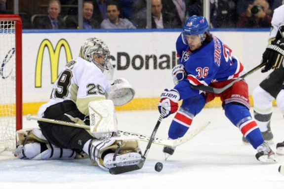 Pittsburgh Penguins, New York Rangers, Marc-Andre Fleury