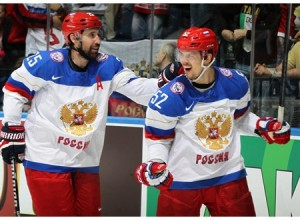 Zaripov and Shirokov celebrate