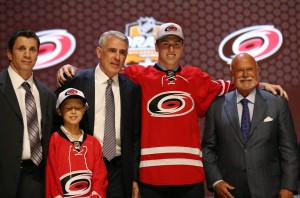 Haydn Fleury, Carolina's 7th overall pick from 2014 (Bill Streicher-USA TODAY Sports)