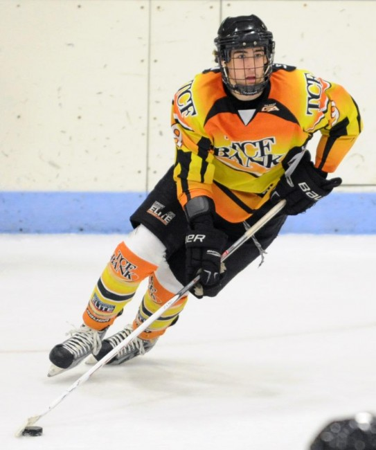 Hunter Warner is a prospect from Eden Prairie that could very well be a draft steal in the later rounds (Katherine Matthews -- HSEliteHockey.com)