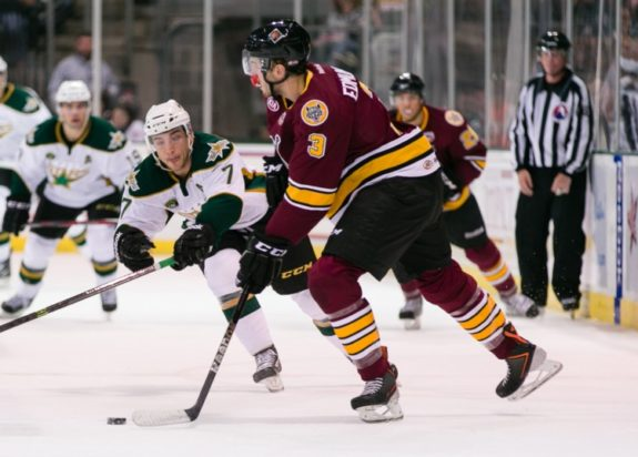 Edmundson may have a few years left before he sees NHL time (Credit: Texas Stars Hockey)